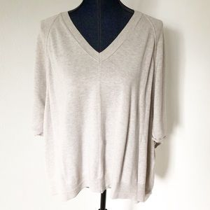 Caslon Oversized V-Neck Sweater